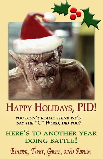 PID Christmas Card