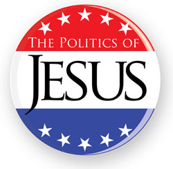 Politics of Jesus button