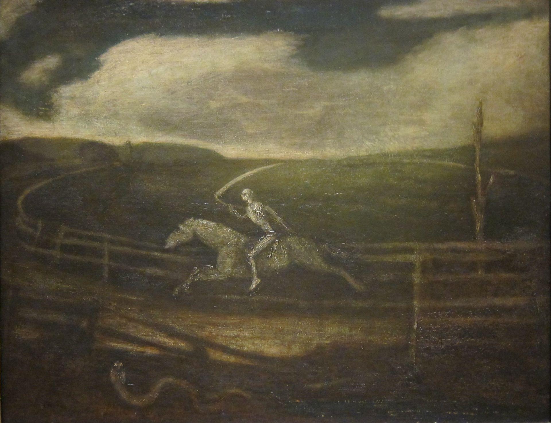 "Albert Pinkham Ryder ""Death on a Pale Horse"""